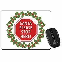 Christmas Stop Sign Computer Mouse Mat Birthday Gift Idea