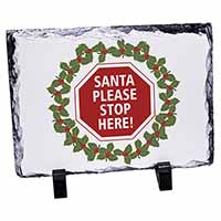 Christmas Stop Sign Photo Slate Photo Ornament Gift