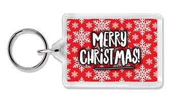 Merry Christmas Photo Keyring Great Gift