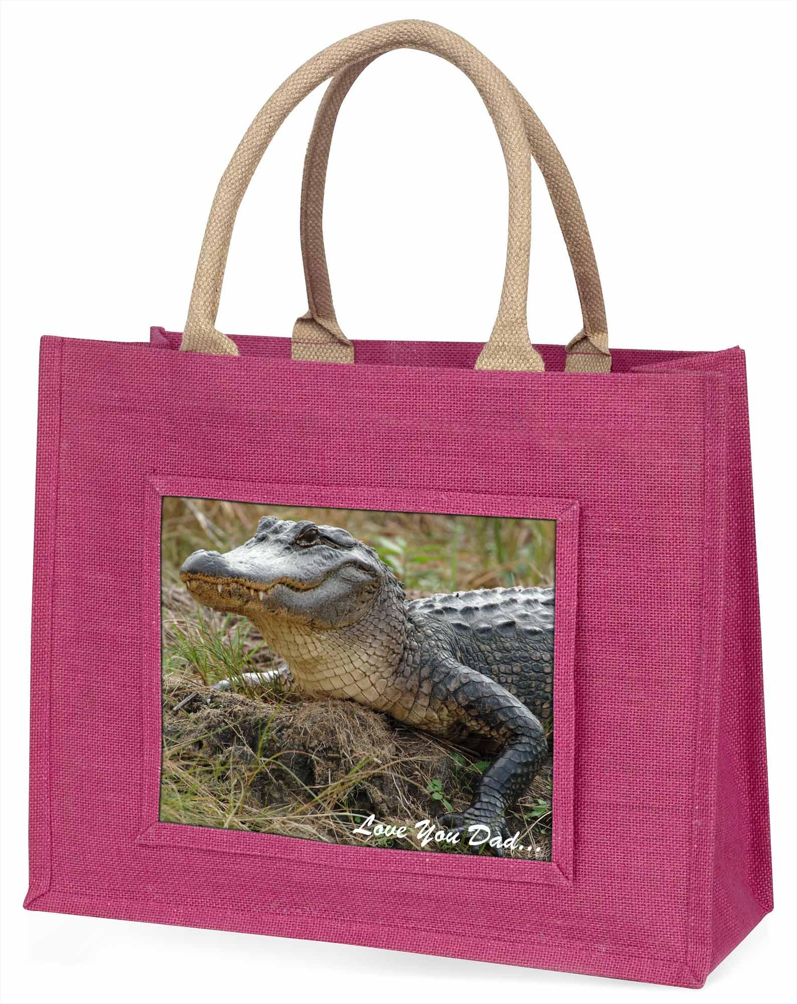 Krokodil' liebe Dich Papa' große rosa Einkaufstasche Weihnachtsgeschenk