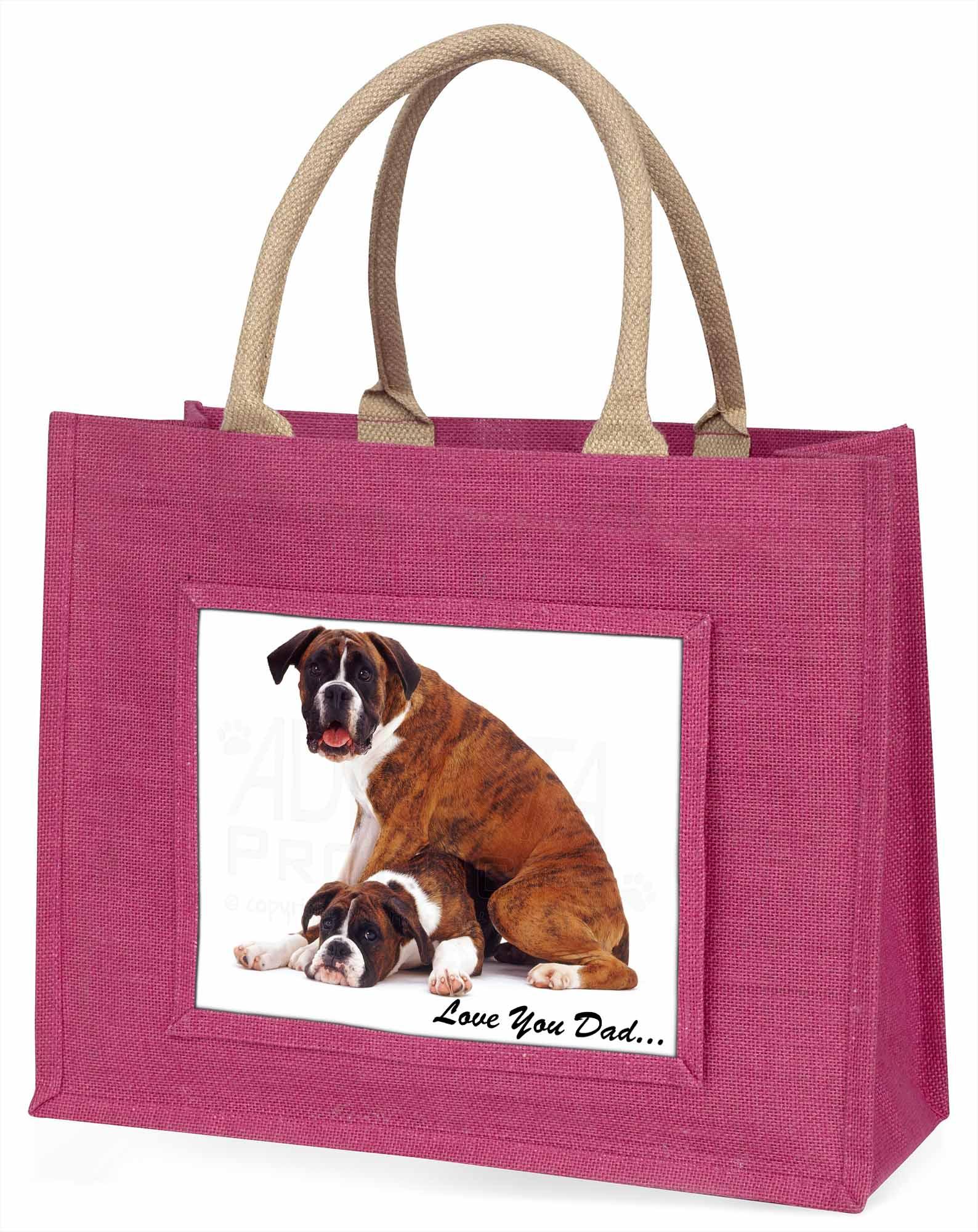 Boxer' liebe Dich Papa' Stimmung große rosa Einkaufstasche WEIHNACHTEN