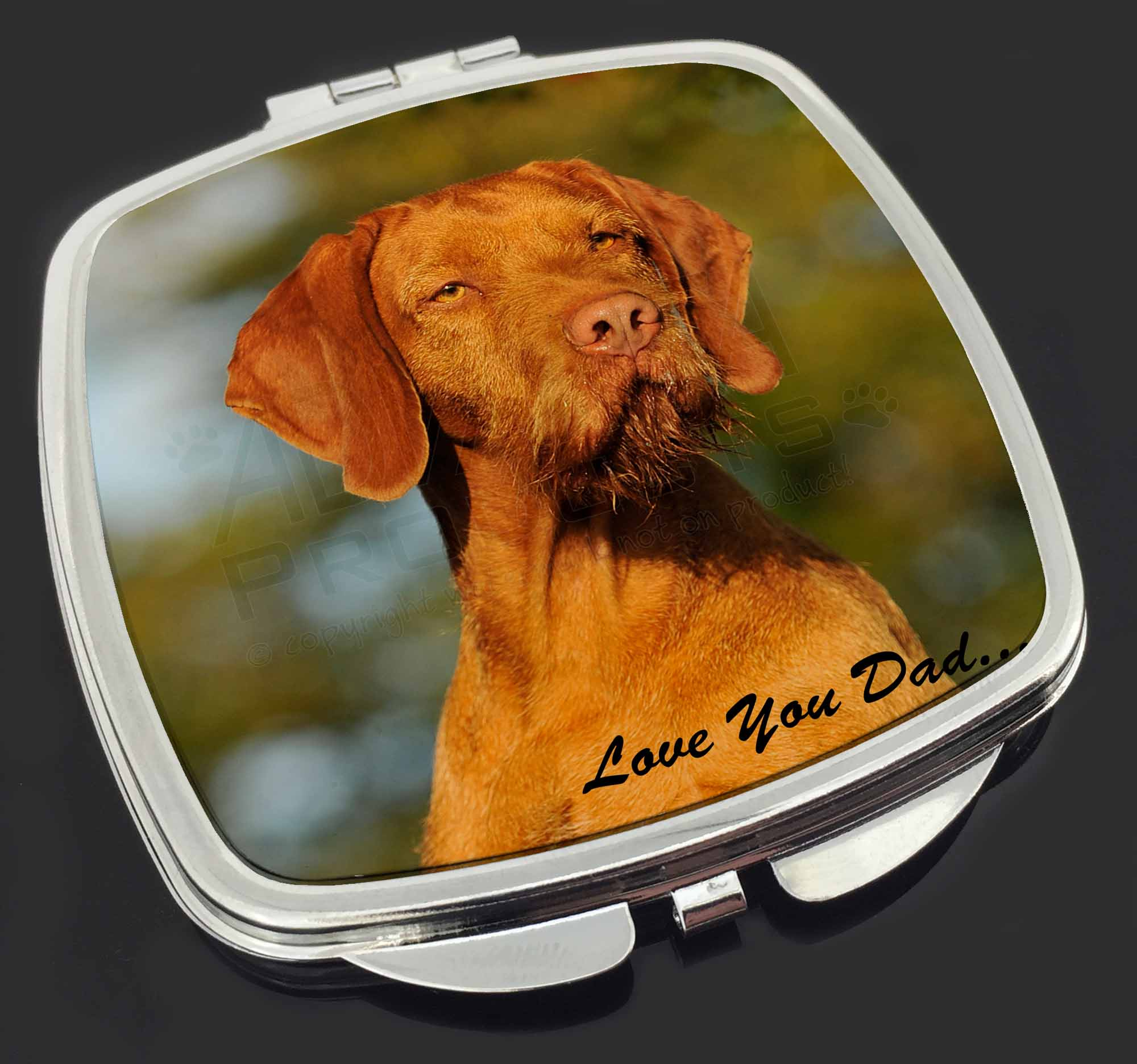 VIZSLA DOG DOGS CHROME ANIMAL Metal License Plate Frame Tag Holder