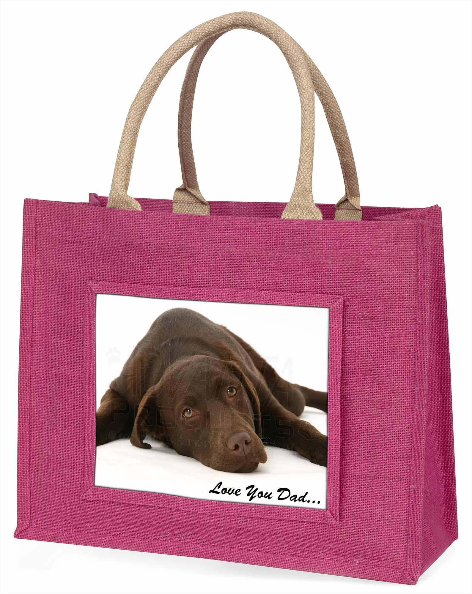 Labrador' liebe Dich Papa' Stimmung große rosa Einkaufstasche Christmas