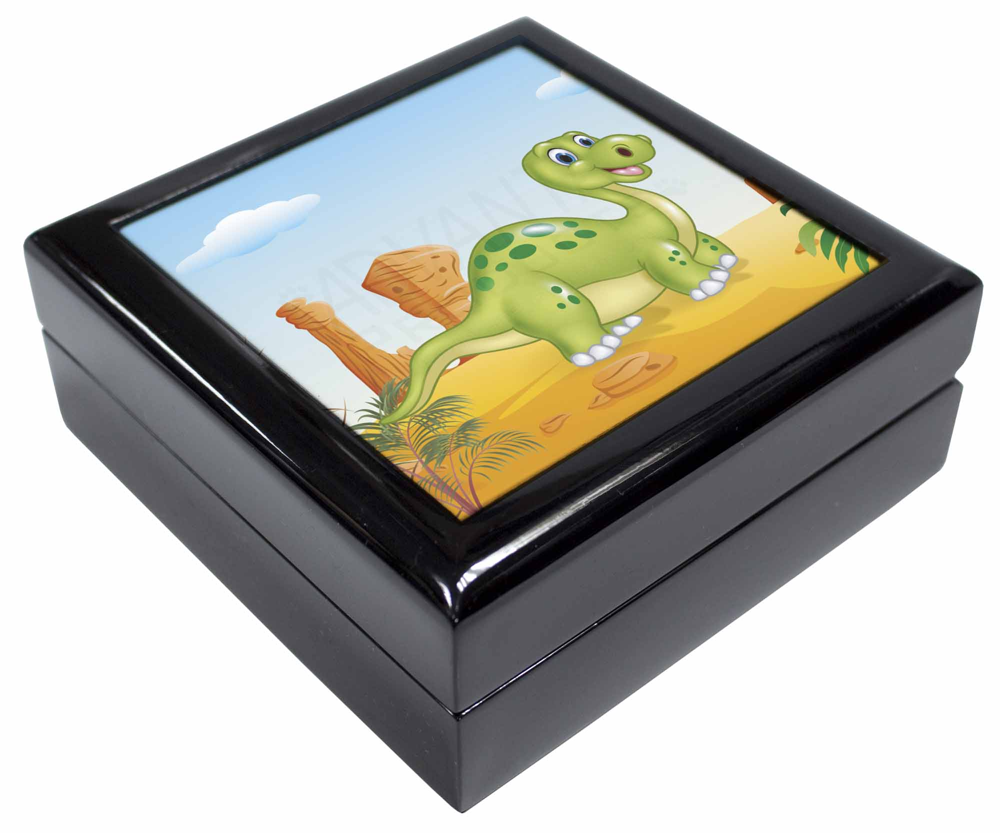DIN-2PW Childrens Dinosaur Glass Paperweight in Gift Box Christmas Present