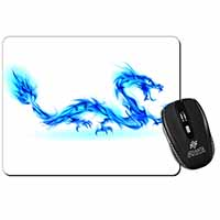Blue Flame Dragon Computer Mouse Mat Birthday Gift Idea