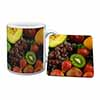 Fruit Mug+Coaster Christmas/Birthday Gift Idea