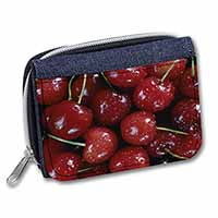 Red Cherries Print Girls/Ladies Denim Purse Wallet Christmas Gift Idea
