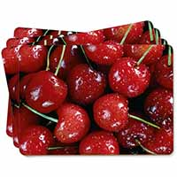 Red Cherries Print Picture Placemats in Gift Box