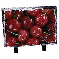 Red Cherries Print Photo Slate Christmas Gift Ornament