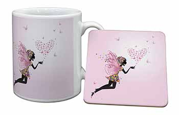 Fairy with Butterflies Mug+Coaster Birthday Gift Idea