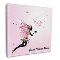 "Fairy Hearts Personalised 12""x12"" Wall Art Canvas Decor, Picture Print"