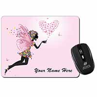 Fairy Hearts Personalised Computer Mouse Mat Birthday Gift Idea