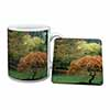 Autumn Trees Mug+Coaster Christmas/Birthday Gift Idea