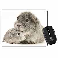 Two Silver Guinea Pigs Computer Mouse Mat Christmas Gift Idea