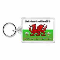 Wales Six Nations Grand Slam 2019 Keyring Welsh Keepsake Gift