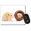 Hamsters in Play Pot Computer Mouse Mat Christmas Gift Idea