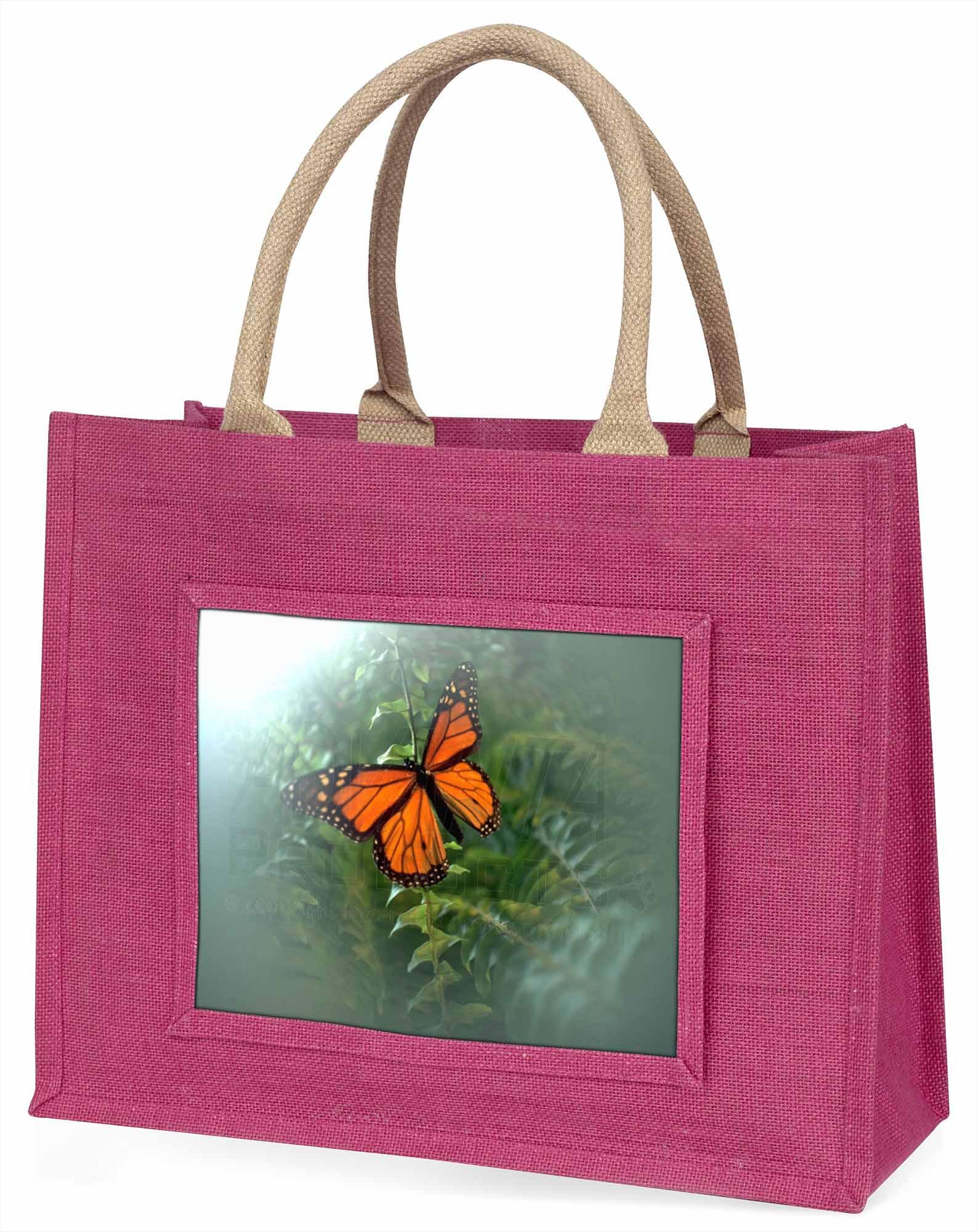 rot Schmetterling im Nebel große rosa Einkaufstasche Weihnachtsgeschenk