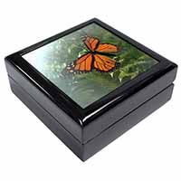 Red Butterfly in the Mist Keepsake/Jewel Box Birthday Gift Idea