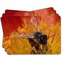 Honey Bee on Flower Picture Placemats in Gift Box