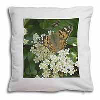 Painted Lady Butterfly Soft Velvet Feel Scatter Cushion