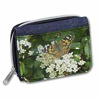 Painted Lady Butterfly Girls/Ladies Denim Purse Wallet Birthday Gift Idea