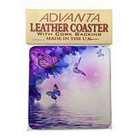 ButterFlies Single Leather Photo Coaster Perfect Gift