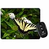 Pretty Black and Yellow Butterfly Computer Mouse Mat Christmas Gift Idea