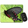 Black and Red Butterflies Computer Mouse Mat Christmas Gift Idea