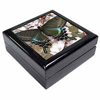 Black and Blue Butterfly Keepsake/Jewellery Box Birthday Gift Idea