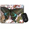 Black and Blue Butterfly Computer Mouse Mat Christmas Gift Idea