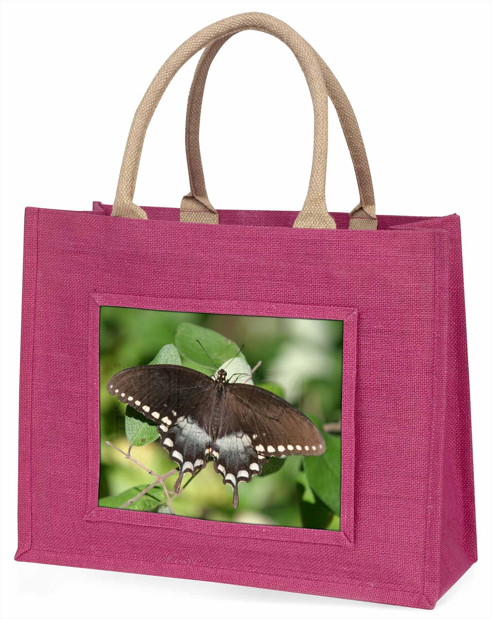 Schmetterlinge,brauner Schmetterling große rosa Einkaufstasche