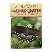 Butterflies, Brown Butterfly Single Leather Photo Coaster Animal Breed Gift