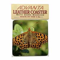 Butterflies, Tiger Moth Butterfly Single Leather Photo Coaster Perfect Gift