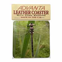 Dragonfly Print Single Leather Photo Coaster Perfect Gift