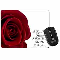 Rose-Wife, Girlfriend Love Sentiment Computer Mouse Mat Christmas Gift Idea