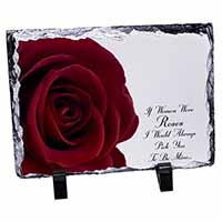 Rose-Wife, Girlfriend Love Sentiment Photo Slate Christmas Gift Ornament
