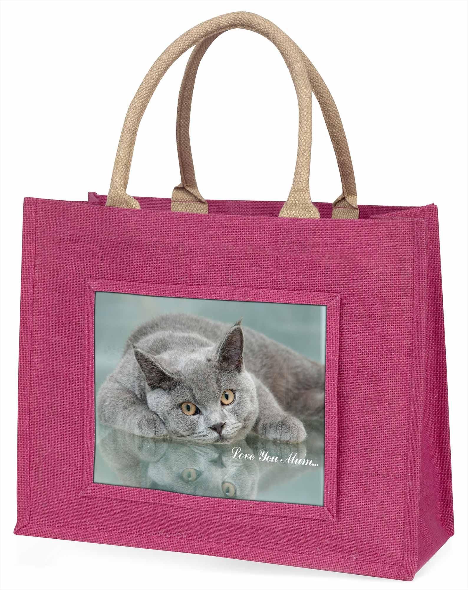 British Blue' Liebe, die sie Mama' große rosa Einkaufstasche WEIHNACHTEN vor,