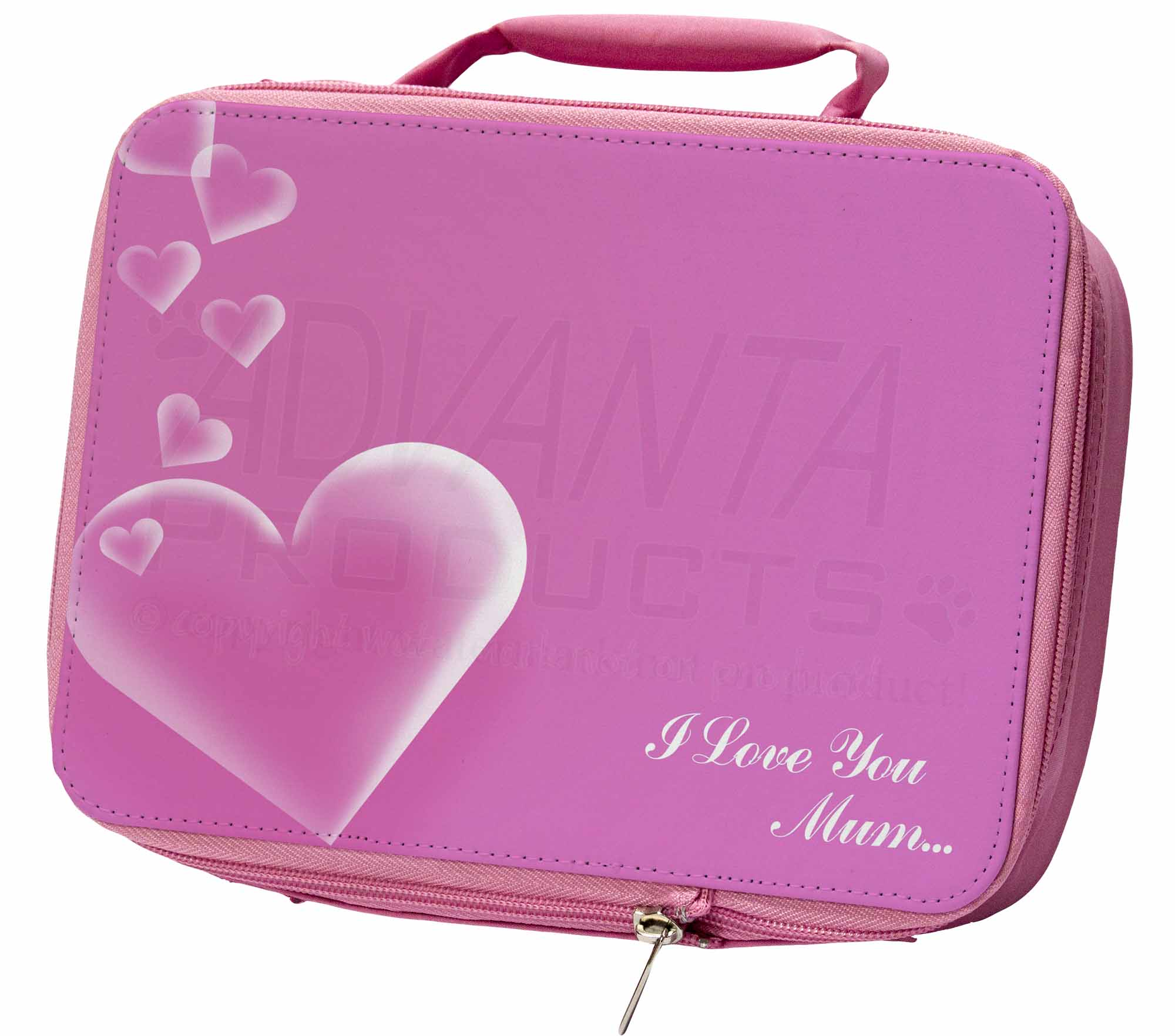 Pink Hearts 'i Love You Mum' Insulated Pink School Lunch Box Bag, Mum-h1lbp Ultima Tecnologia