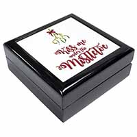Kiss Me Under The Mistletoe Keepsake/Jewellery Box Birthday Gift Idea