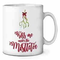 Kiss Me Under The Mistletoe Coffee/Tea Mug Gift Idea