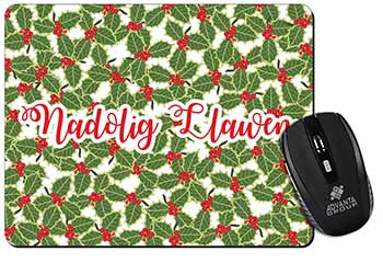 Nadolig Llawen Computer Mouse Mat Birthday Gift Idea