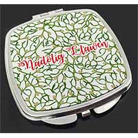 Nadolig Llawen Make-Up Compact Mirror Birthday Gift Idea