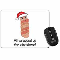 Christmas Pig In Blanket Computer Mouse Mat Birthday Gift Idea