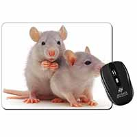 Silver Blue Rats Computer Mouse Mat Birthday Gift Idea