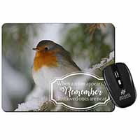 Little Robin Red Breast Computer Mouse Mat Birthday Gift Idea