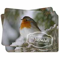 Little Robin Red Breast Picture Placemats in Gift Box
