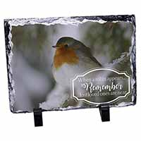Little Robin Red Breast Photo Slate Photo Ornament Gift