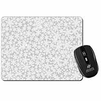 Snow Flakes Computer Mouse Mat Birthday Gift Idea
