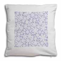 Snow Flakes Soft Velvet Feel Scatter Cushion