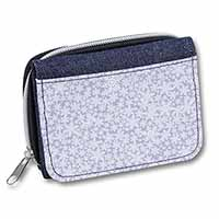 Snow Flakes Girls/Ladies Denim Purse Wallet Birthday Gift Idea